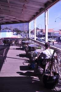 Coffee on Australia's longest pub verandah