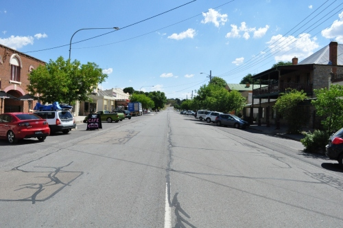 Wide open streets in country towns
