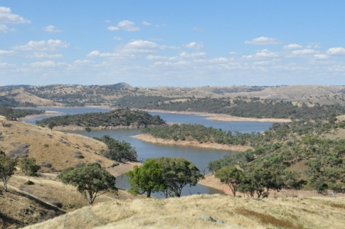 Panorama view of Lake Burrinjuck, Murrumbidgee River, NSW